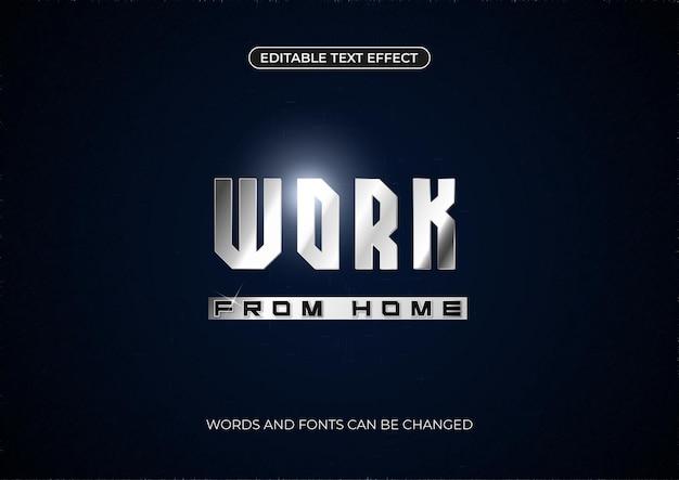 Bewerkbaar work from home-teksteffect met flare
