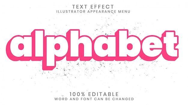 Bewerkbare 3d-teksteffectstijlsjabloon