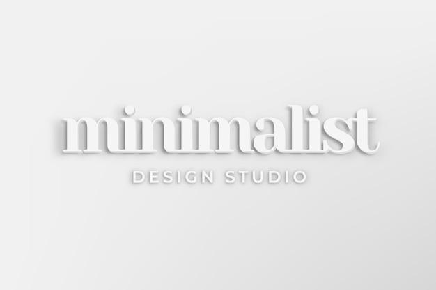 Bewerkbare bedrijfslogo-vector met minimalistisch woord