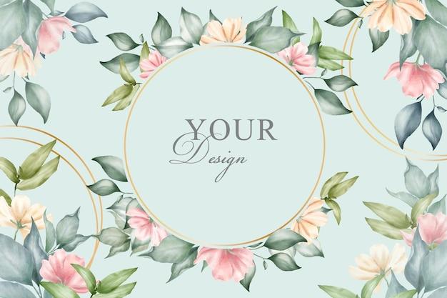 Bewerkbare bloemen arrangement achtergrond sjabloon