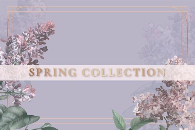 Bewerkbare bloemsjabloon voor lentecollectie Gratis Vector