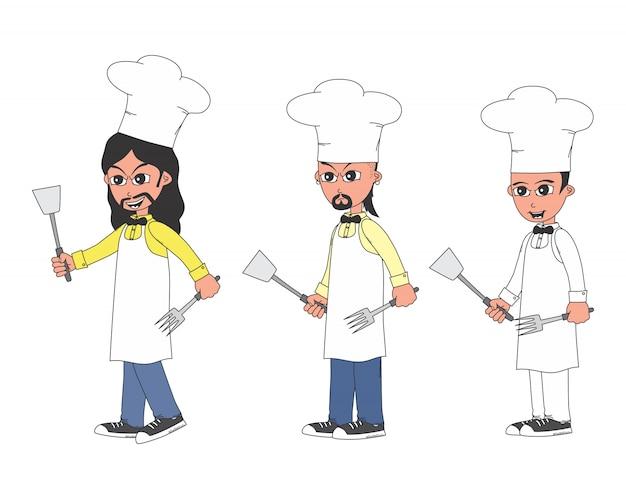 Bewerkbare cartoon kerel vector grafische kunst ontwerp illustratie