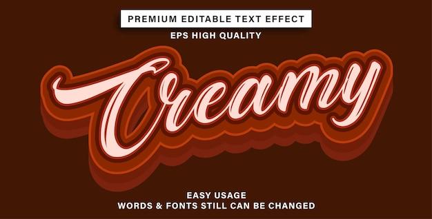 Bewerkbare crème met teksteffect