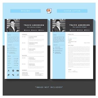 Bewerkbare cv-indeling downloaden en sollicitatiebrief