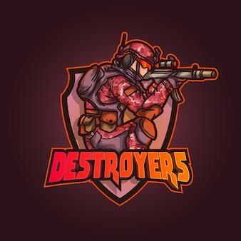 Bewerkbare en aanpasbare sport mascotte logo ontwerp esports twitch illustratie