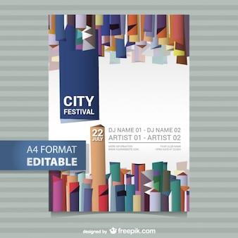 Bewerkbare festival poster sjabloon