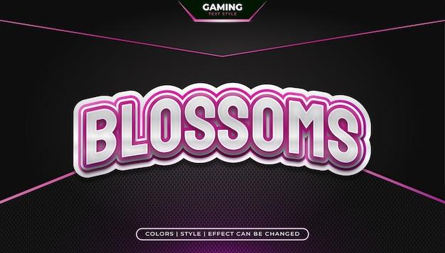 Bewerkbare gaming-tekststijl met gebogen effect voor de identiteit van het e-sportteam of het gaming-logo