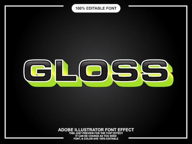 Bewerkbare grafische stijl vet zwart gloss tekst