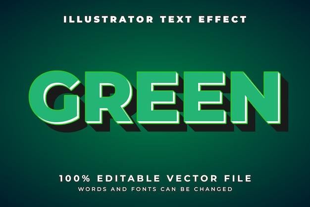 Bewerkbare groene natuurstijl teksteffect