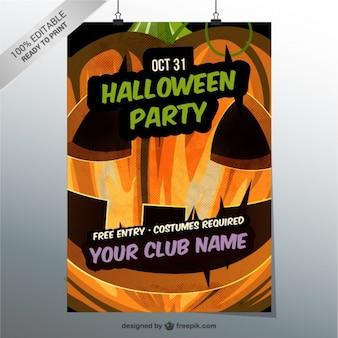 Bewerkbare halloween party flyer template