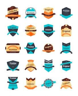 Bewerkbare label sticker vector grafische kunst ontwerp illustratie