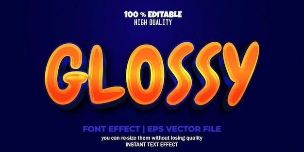 Bewerkbare lettertype-effect glanzende tekststijl