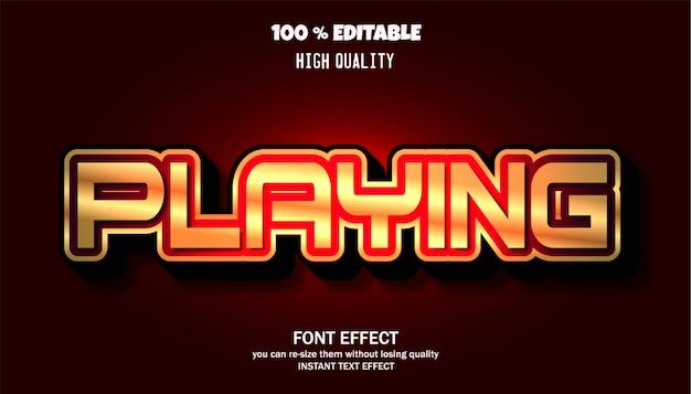 Bewerkbare lettertype-effect sjabloon