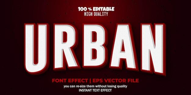 Bewerkbare lettertype-effect stedelijke tekststijl
