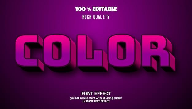 Bewerkbare lettertypesjabloon met 3d-effect en schaduw