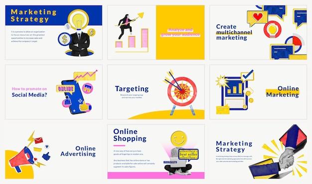 Bewerkbare marketingsjablonenvector voor geremixte media voor e-commercebedrijven die compatibel zijn met ai-set