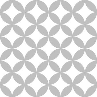 Bewerkbare naadloze geometrische patroon tegel met ronde batik motief