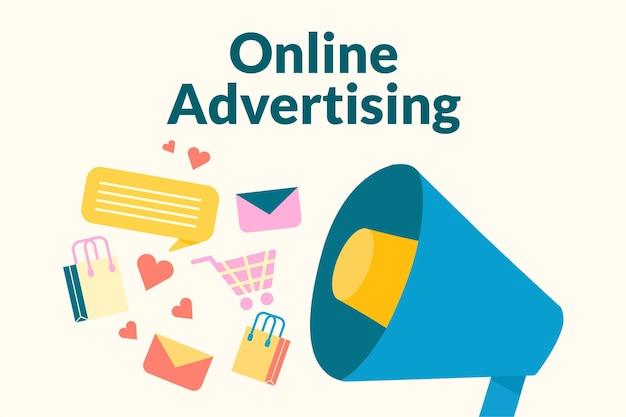 Bewerkbare online advertentiesjabloon in flat voor post op sociale media