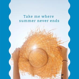 Bewerkbare post voor zomerse vibes-advertentiesjabloon