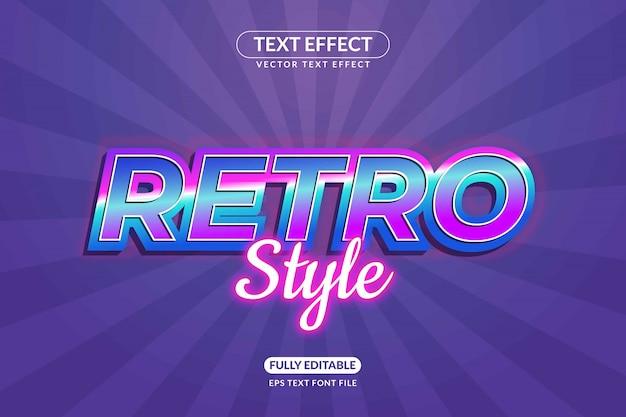 Bewerkbare retro-teksteffectstijl