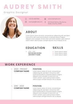 Bewerkbare sjabloon voor creatief cv voor het zoeken naar werk