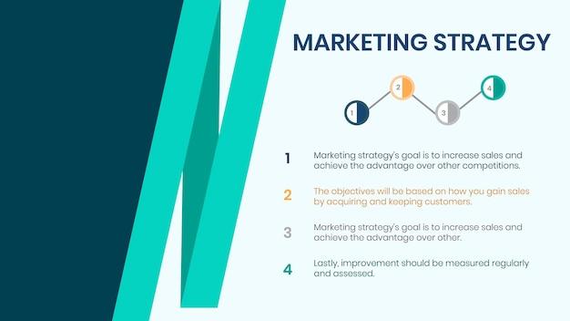 Bewerkbare sjabloon voor presentatiedia's voor marketingstrategie