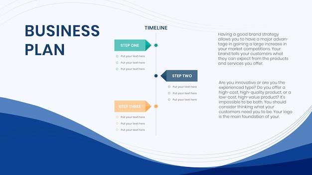 Bewerkbare sjabloon voor presentatiedia van bedrijfsplan business