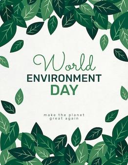 Bewerkbare sjabloon voor wereldmilieudag flyer