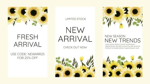 Bewerkbare sociale media instagram verhaalsjabloon ontwerp frame achtergrond in schattige zachte bloemen
