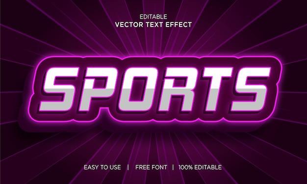 Bewerkbare sport 3d-stijl teksteffect vector
