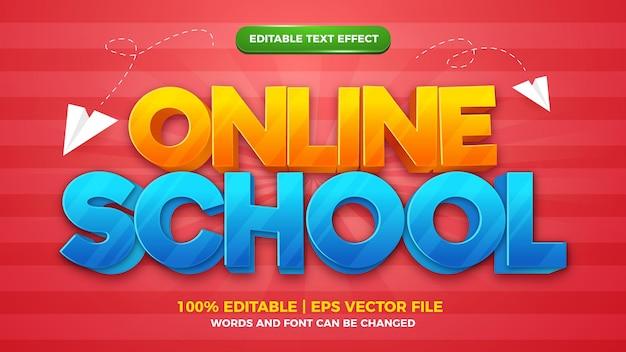 Bewerkbare stijlsjabloon voor online schoolstrips