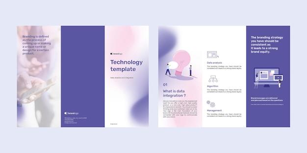 Bewerkbare technologie brochure sjabloon set template