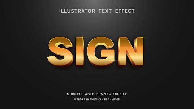Bewerkbare tekenstijl voor teksteffect