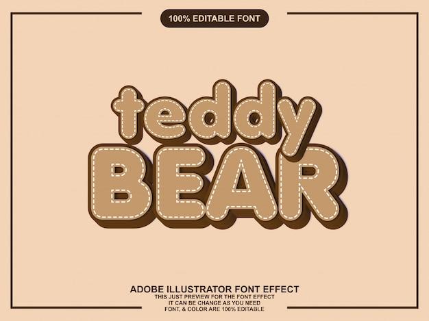 Bewerkbare tekst effect cartoon grafische stijl