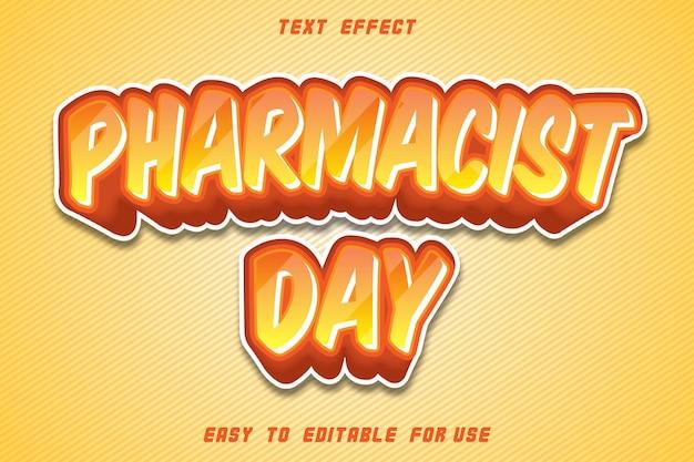 Bewerkbare tekst effect dag van de apotheker