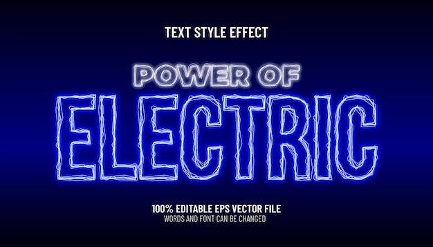 Bewerkbare tekst effect kracht van elektrische stijl
