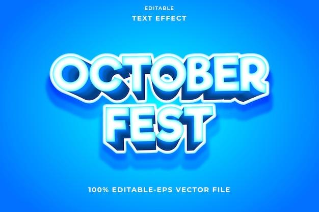 Bewerkbare tekst effect oktober emboss stijl