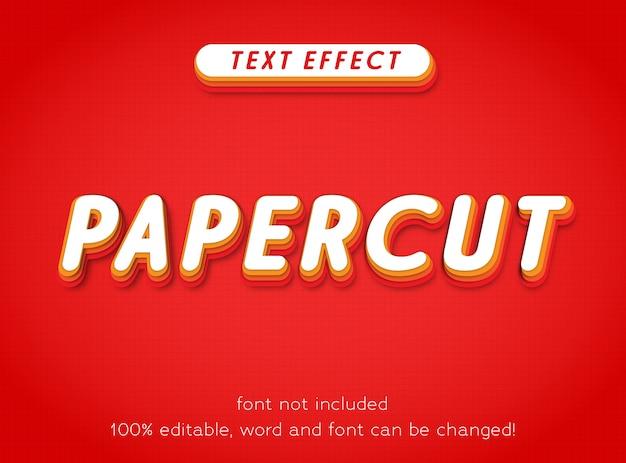 Bewerkbare tekst effect papercut kleurrijke leuke stijl sjabloon brief type