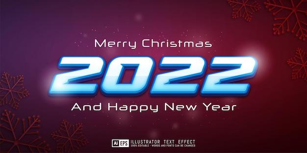 Bewerkbare tekst gelukkig nieuwjaar en vrolijk kerstfeest voor sjabloon voor spandoek