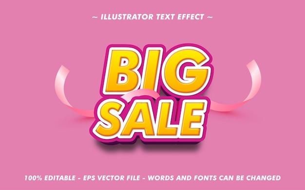 Bewerkbare tekst grote verkoop met 3d-stijleffect