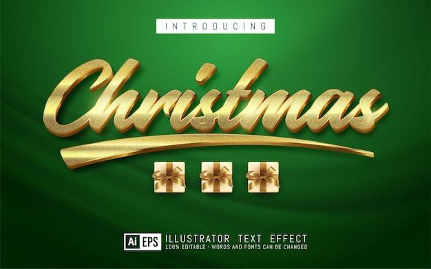 Bewerkbare tekst kerst tekst stijl concept