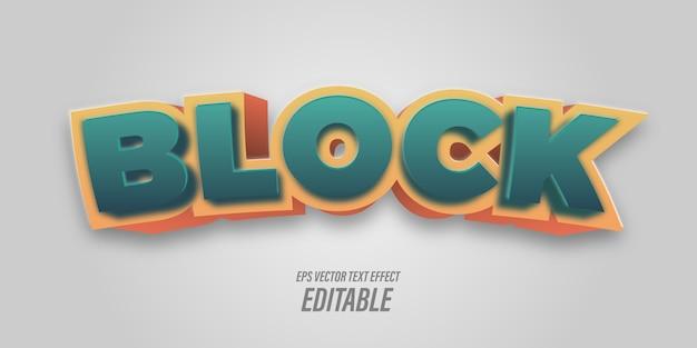 Bewerkbare tekst met 3d-effecten met speelse en leuke thema's