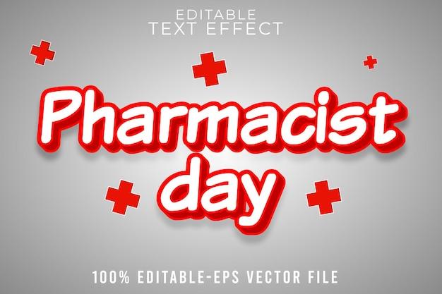 Bewerkbare teksteffect apothekersdag met eenvoudige medische stijl