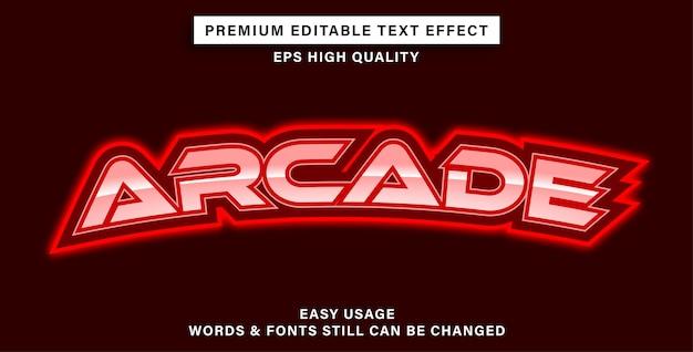 Bewerkbare teksteffect-arcade