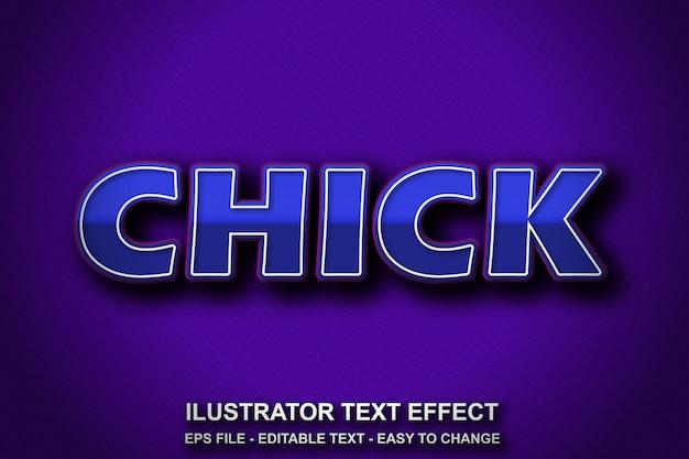 Bewerkbare teksteffect blauwe stijl