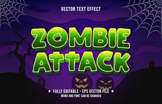 Bewerkbare teksteffect enge halloween-evenementthemastijl voor digitale en gedrukte mediasjabloon