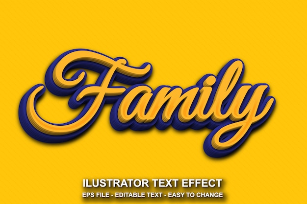 Bewerkbare teksteffect familiestijl