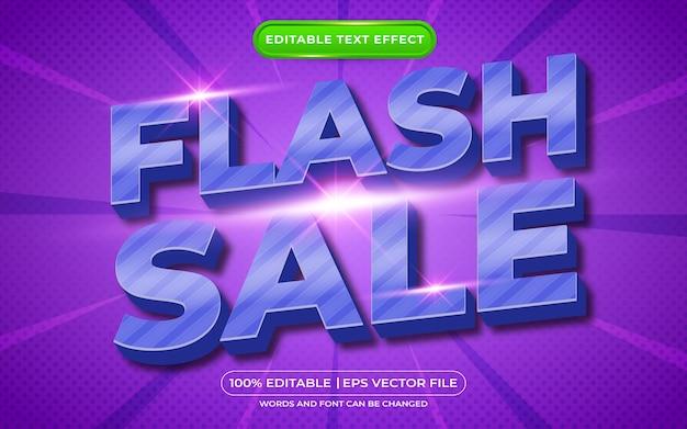 Bewerkbare teksteffect flash-uitverkoop