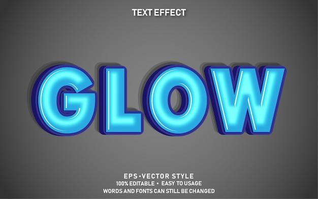 Bewerkbare teksteffect glow