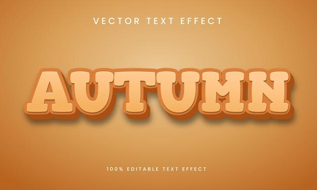 Bewerkbare teksteffect herfst 3d-tekststijl